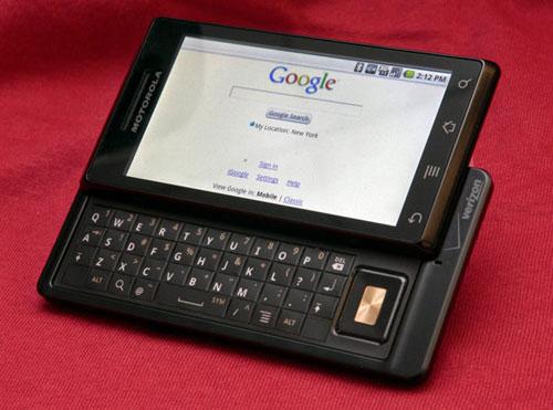 История Android - Motorola Droid с физической клавиатурой