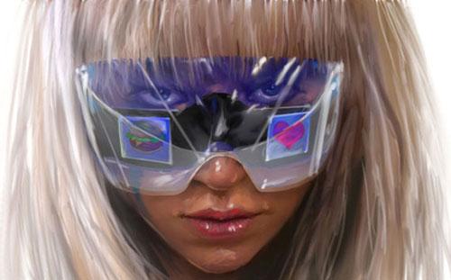Леди Гага в фото-очках от Polaroid