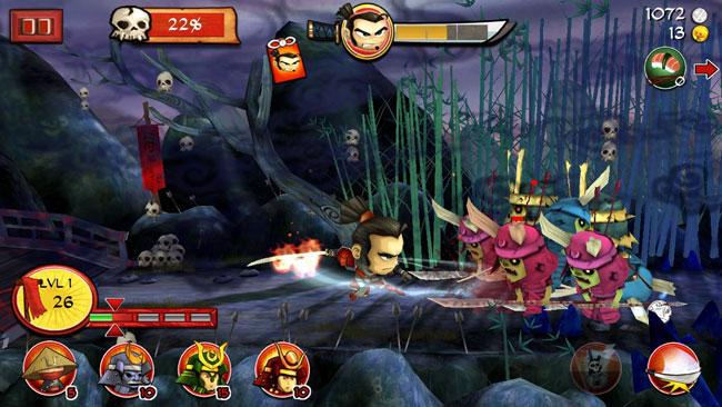 Десятка лучших мобильных зомби игрушек для Android: Samurai vs Zombie Defen