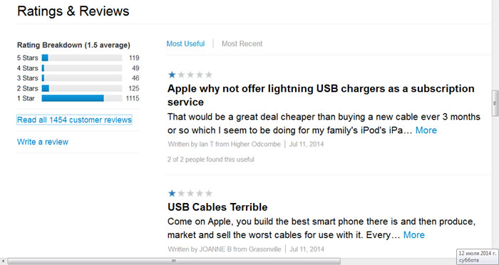 Кабель лайтнинг - USB - проблемы - iPhone - зарядка - где купить