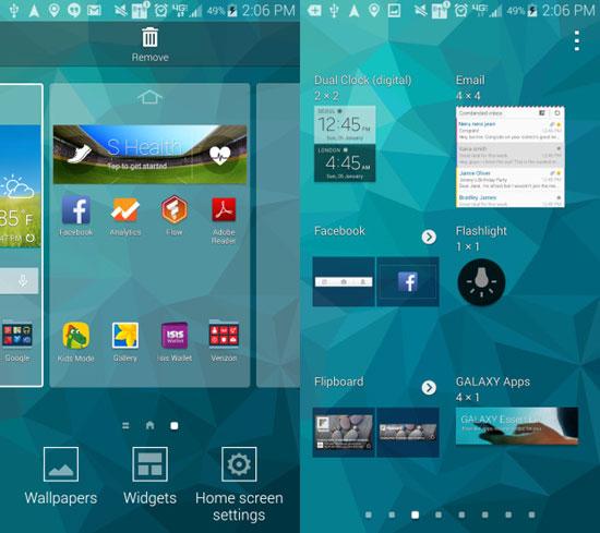 Samsung Galaxy S5 - как настроить фонарик - инструкция - виджет